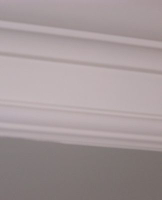 DIY Crown Molding for an easy room makeover.