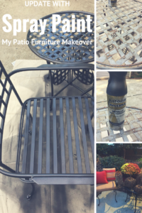 Spray paint patio furniture for a fresh new look