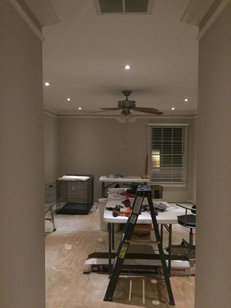 Recessed lights with led bulbs. DIY installed.