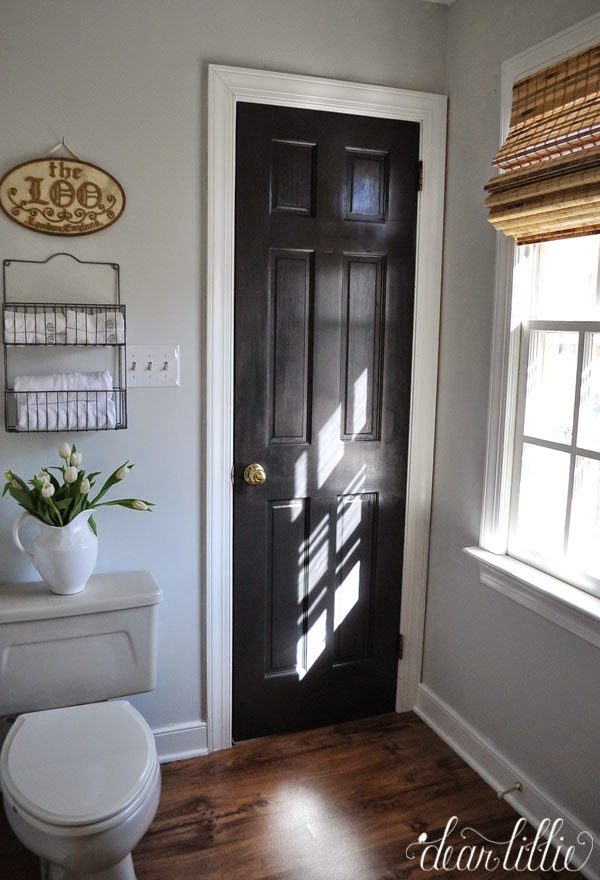 Benjamin Moore Mopboard Black Interior Door Dark interior doors dark doors & Bonus Room Makeover - Dark Door it is!