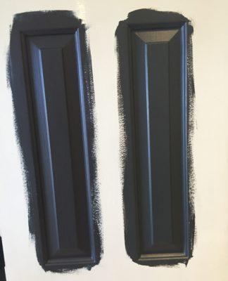 dark doors, dark interior doors, black doors, gray doors, DIY