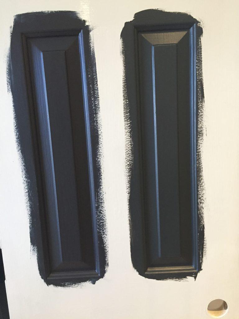 Benjamin Moore Mopboard Black and Wrought Iron Door Colors