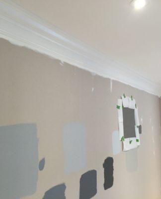 Benjamin Moore Gray Paint - Gray paint samples - Stonington Gray, Chelsea Gray