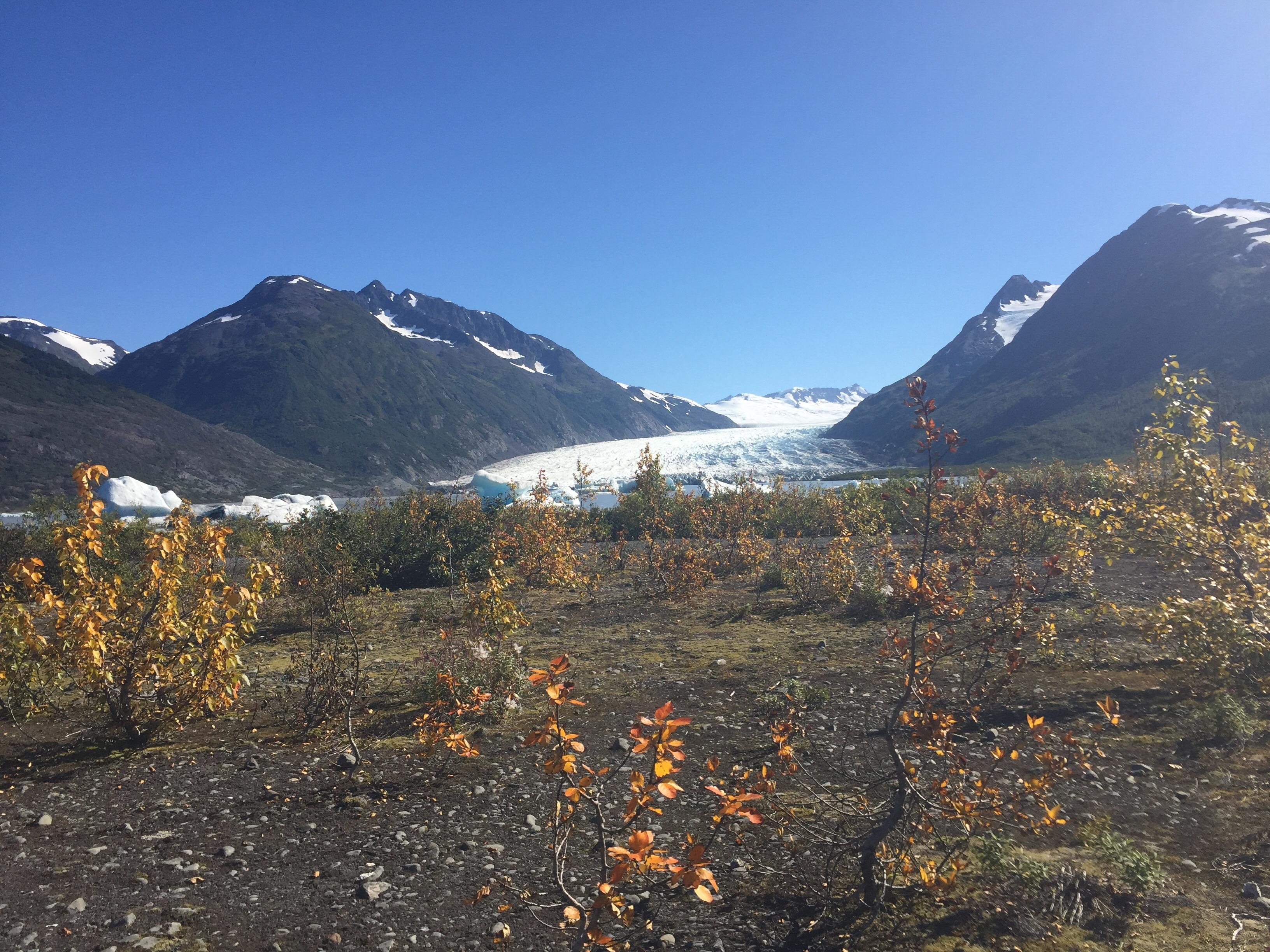 Spencer Lake and Glacier in Alaska