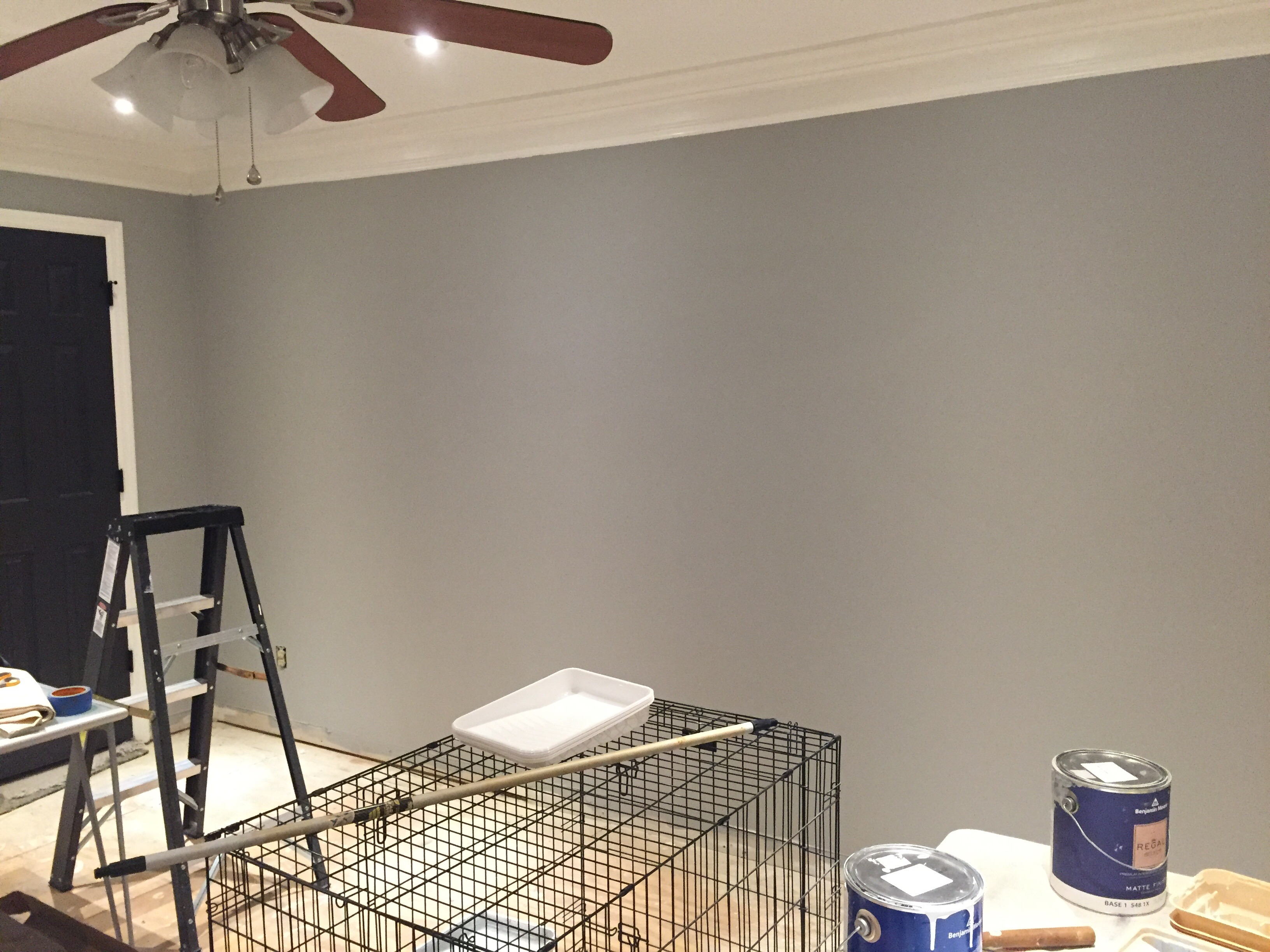 Benjamin Moore Chelsea Gray Paint Color for a Bonus Room Makeover | DIY Room Makeover | Use Paint for a cheap and easy room update