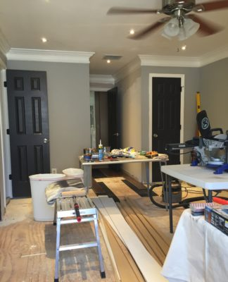 DIY Room Makeover   BM Chelsea Gray paint color
