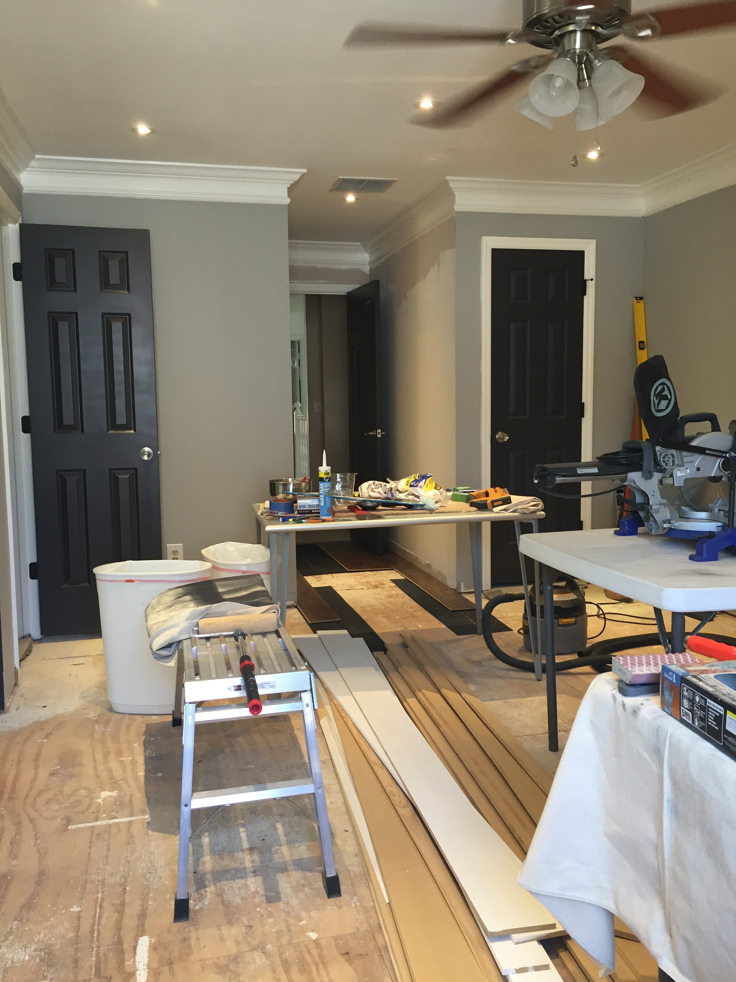 Benjamin Moore Chelsea Gray Paint - Bonus Room Makeover