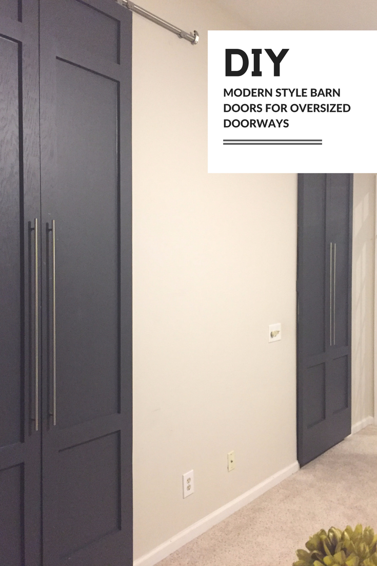 DIY Modern Style Barn Doors Benjamin Moore Wrought Iron | DIY Barn Doors | Tall Doors