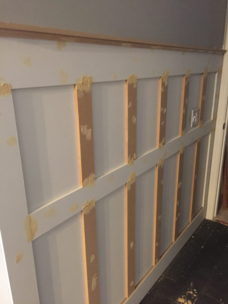 Update your Room with Board and Batten   Inexpensive DIY Project Using Wood Trim