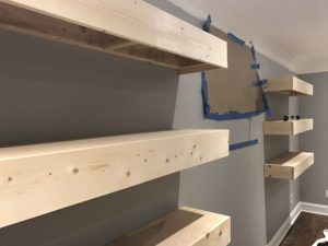 DIY Floating Shelves | Media Shelves | DIY FLoating Shelf | Room Makeover | DIY Projects