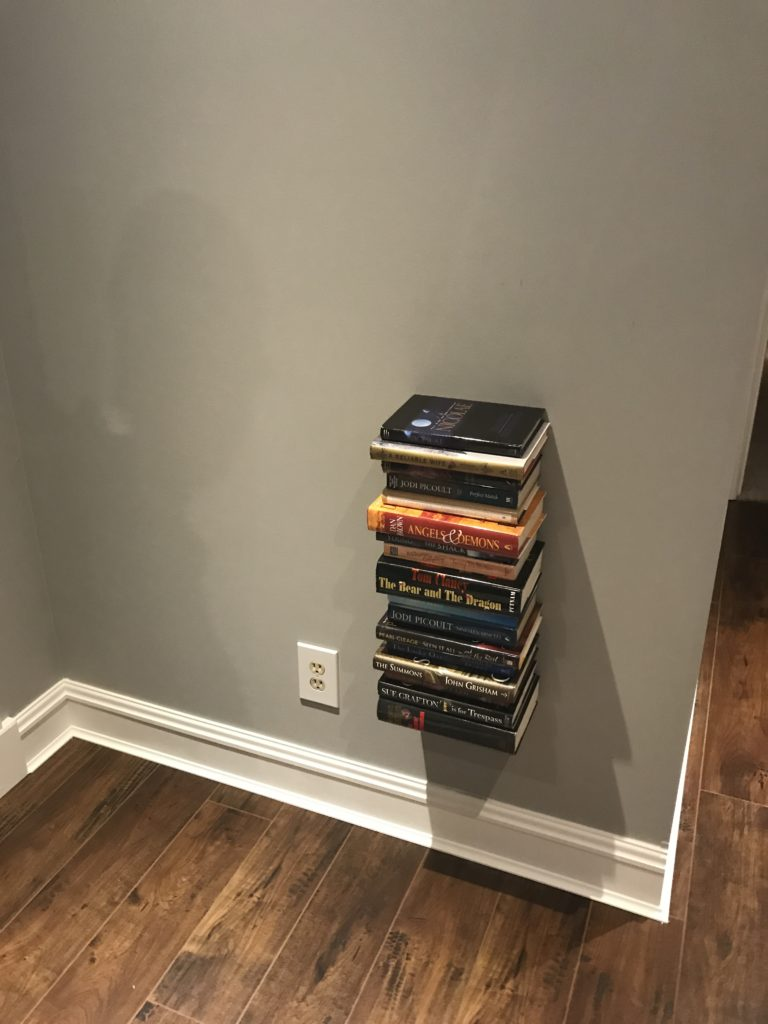 Diy Invisible Floating Book Shelves Book Organization