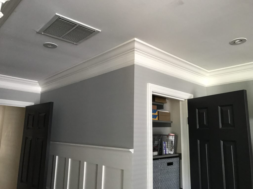 Update a Room with DIY Wood Trim   Board and Batten   Crown Molding