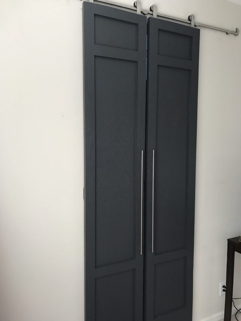 Paint And Primer >> DIY Modern Style Tall Sliding Barn Doors with Pulls- Part 2