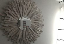 DIY Sunburst Mirror | Wood shim project | DIY Wall Art | Home Decor DIY