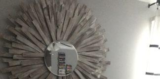 DIY Sunburst Mirror | Wood shim project | DIY Wall Art | Home Decor DIY