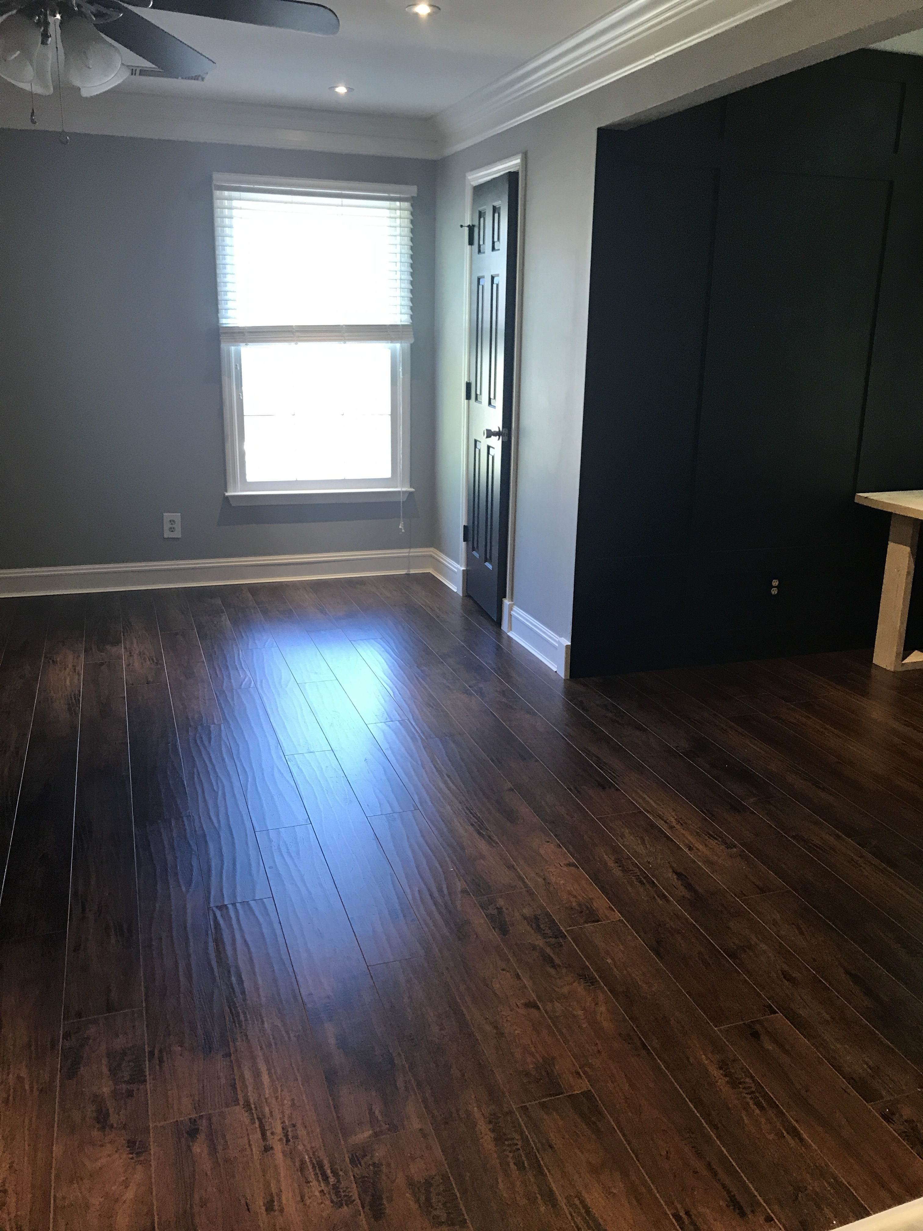 Installing laminate flooring diy bonus room makeover for Diy laminate flooring