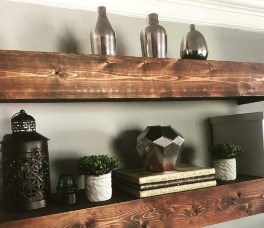 DIY Floating Shelves   Media Shelves   DIY FLoating Shelf   Room Makeover   DIY Projects