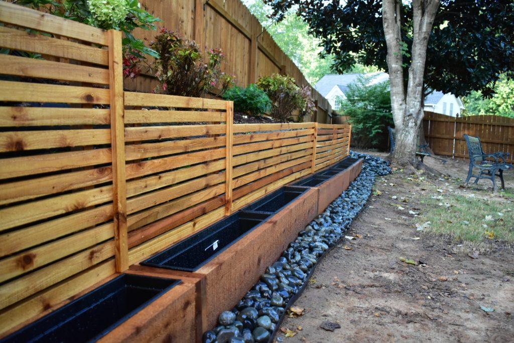 Diy Cedar Planter Boxes With Trellis Privacy Screen
