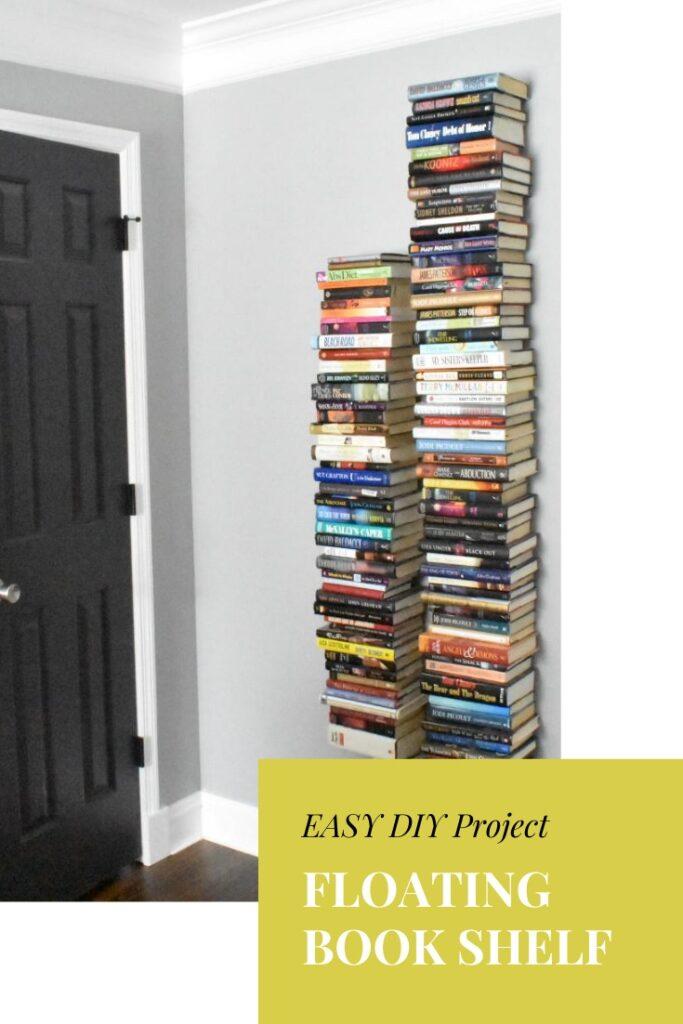 DIY Invisible Floating Book Shelves - Book Organization